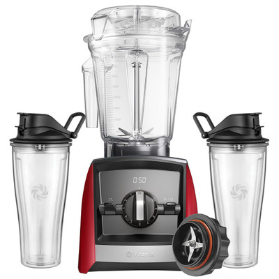 Vitamix Ascent 2300i Blender in Red with 600ml Cup Starter Kit