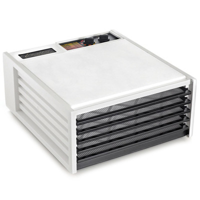 Excalibur 4526TW 5-Tray Dehydrator with Timer in White