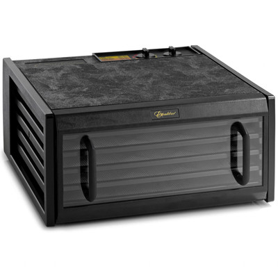 Excalibur 4526TCDB 5-Tray Dehydrator with Clear Door & Timer in Black