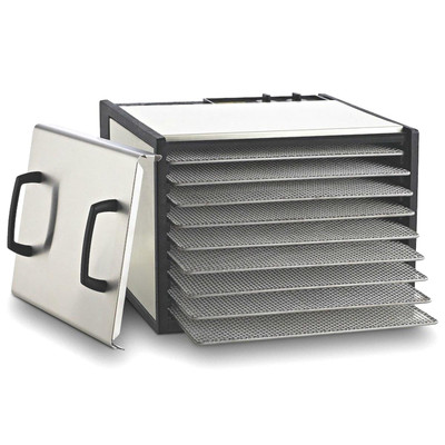 Excalibur 9-Tray Stainless Steel Food Dehydrator with 26h Timer
