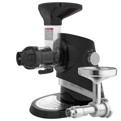 Sana EUJ-727 Supreme Horizontal Slow Juicer in Black with Oil Extractor