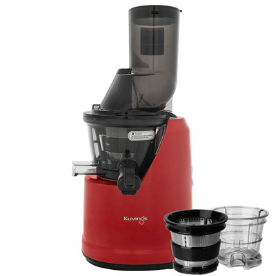Kuvings B1700 Wide Feed Slow Juicer in Red with Accessories
