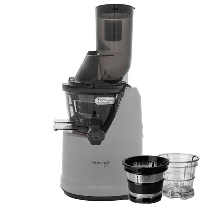 Kuvings B1700 Wide Feed Slow Juicer in White with Accessories