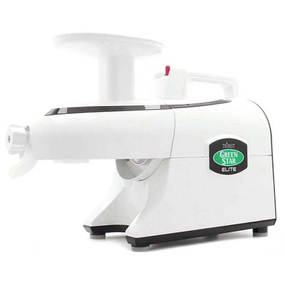 Green Star Elite 5000 Twin Gear Juicer in White