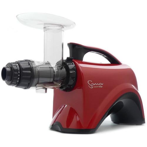 Omega Sana EUJ-606 Horizontal Slow Juicer in Red