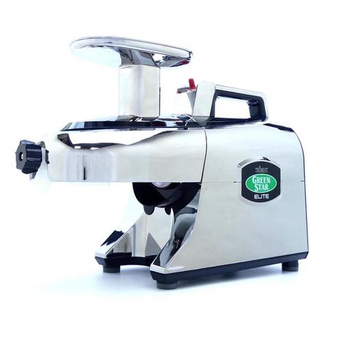 Green Star Elite 5050 Twin Gear Juicer in Chrome