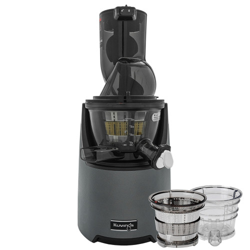 Kuvings EVO820 Plus Wide Feed Slow Juicer in Gunmetal with Accessories