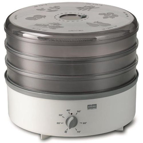 Stockli 3 Tray Stackable Dehydrator with Stainless Steel Trays