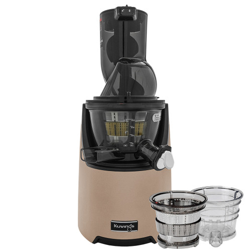 Kuvings EVO820 Plus Wide Feed Slow Juicer in Gold with Accessories