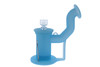 Silicone Dab Rig Waterpipe Kit with Quartz Nail - Pastel Blue