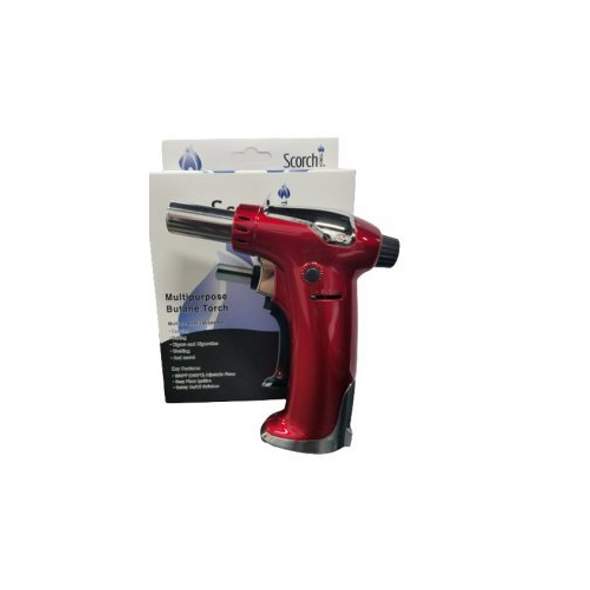 Scorch Torch Jet Flame Multipurpose Butane Torch - Red