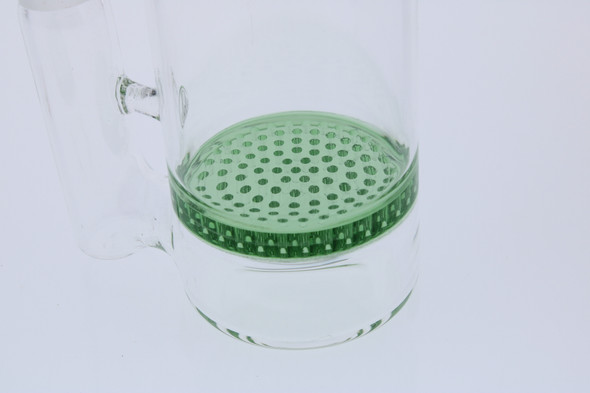 Green Honeycomb Perc  14mm Male 45 Degree Angle Rounded Reclaim Catcher (Ash Catcher)