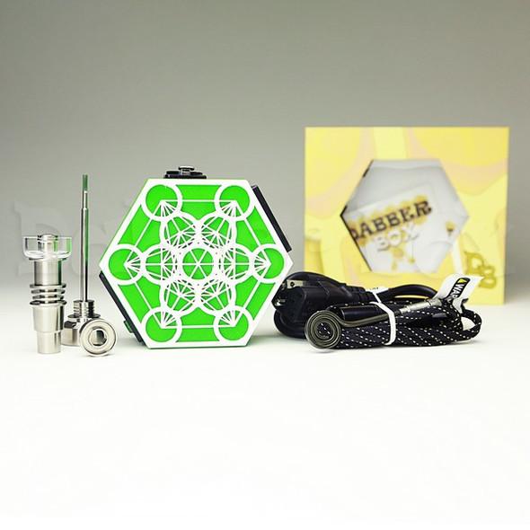 Dabber Box 3D Printed Honeycomb Enail - Metatron's Cube