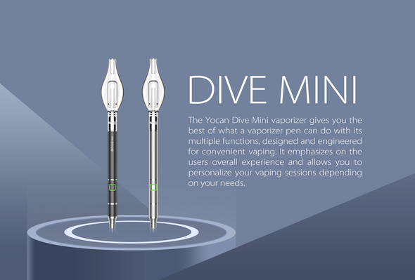 Yocan - Dive Mini 400mAh Electronic Concentrate Pen - Silver