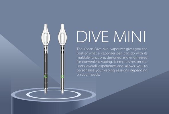 Yocan - Dive Mini 400mAh Electronic Concentrate Pen - Black
