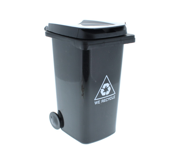 Mini Trash Can Cotton Swab Storage / Garbage Bin - Black