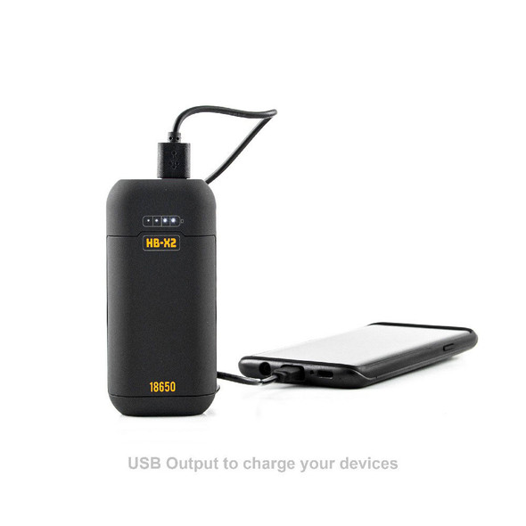 HB-X2 BATTERY CHARGER / POWERBANK by Huni Badger