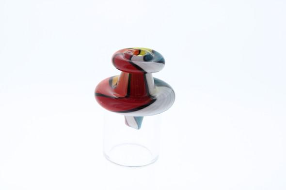 Monkey Boy Art - Blue/White/Red/Orange/Yellow Airflow Carb Cap (American Glass)