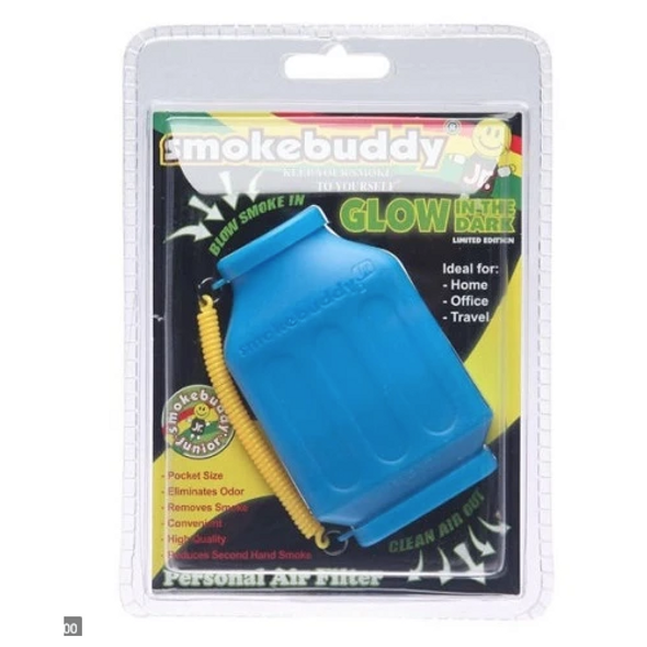 SmokeBuddy Jr Personal Smoke Air Filter Glow in the Dark - Blue