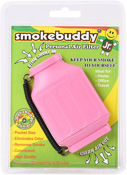 SmokeBuddy Jr Personal Smoke Air Filter - Pink