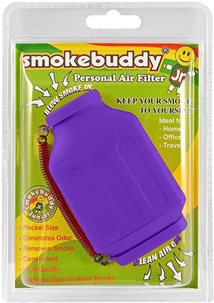 SmokeBuddy Jr Personal Smoke Air Filter - Purple