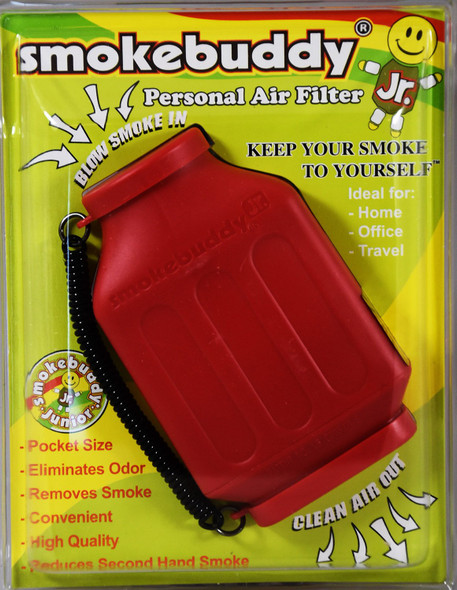 SmokeBuddy Jr Personal Smoke Air Filter - Red