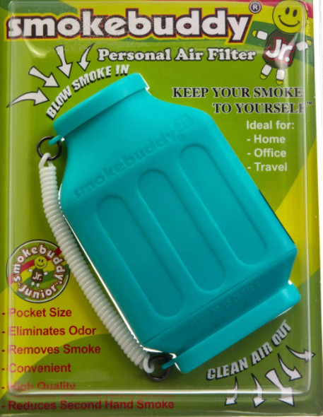 SmokeBuddy Jr Personal Smoke Air Filter - Teal