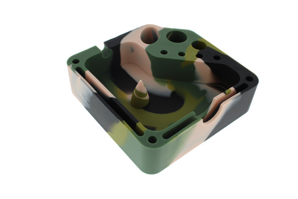 Square Silicone Dab Station - Army Green, Tan, Black