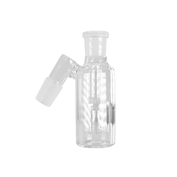 Ash Catcher with Box Perc 45 Degree Angle 14mm Male - Clear