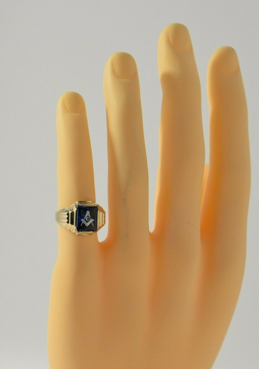 Vintage Shell Cameo Jewelry Antique Art Deco Cameo 10k Yellow Gold Ring Rectangular Size 6.25