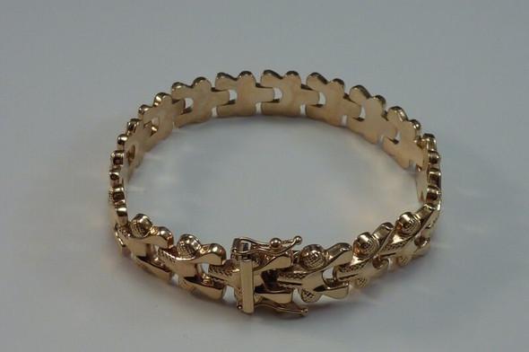 """14K Yellow Gold 7"""" Fancy Link Bracelet"""