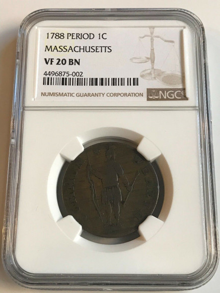 U.S 1788 Period Massachusetts Cent, NGC VF20 BN