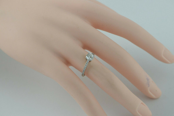 Tiffany & Co.Platinum Engagement Ring with .86 Center Diamond, Size 6