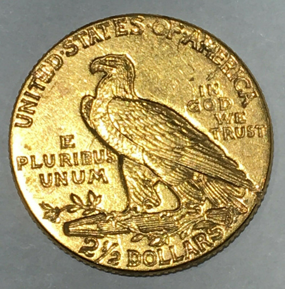 1912 Indian Head $2.50 Dollar Quarter Eagle American Gold Coin