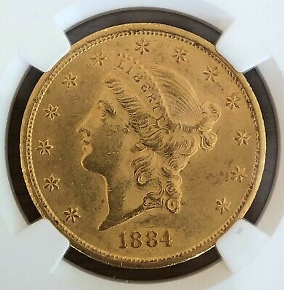 1884-CC $20.00 Liberty Double Eagle NGC AU58