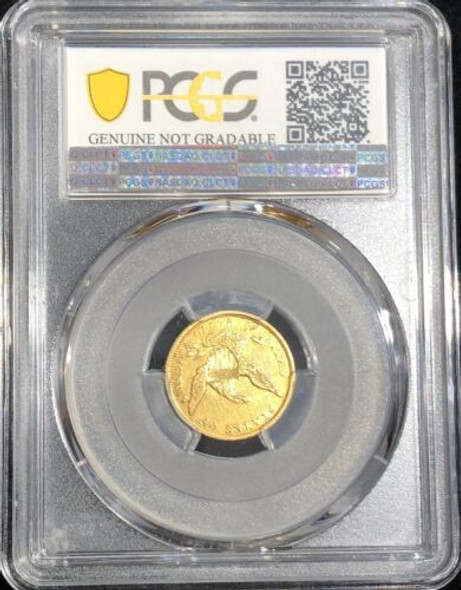 1839-C U.S. $2.50 Dollar Gold Quarter Eagle Coin PCGS Extra Fine Details Cleaned