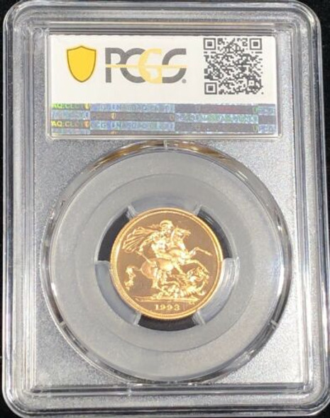 1993 Great Britain Proof Sovereign PCGS PR68 DCAM
