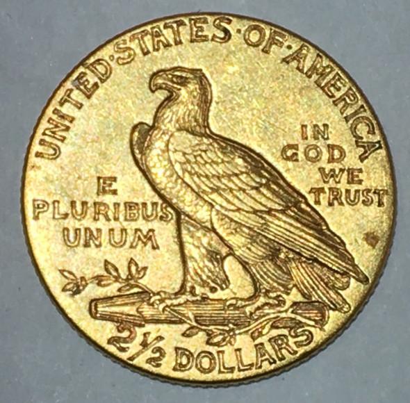 1911 Indian Gold Quarter Eagle $2.50 Coin