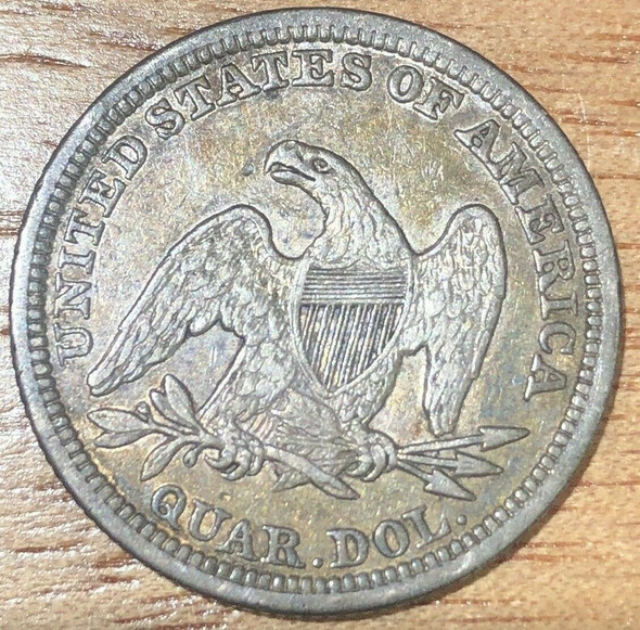 1848 Seated Liberty Quarter