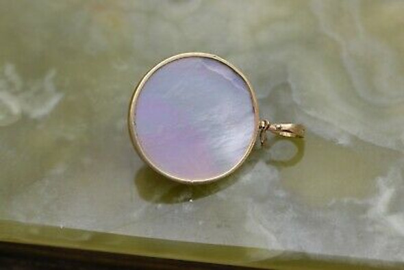 14K Yellow Gold Mabe Pearl Enhancer Circa 1970