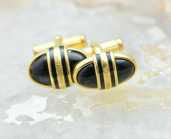 Mont Blanc Cufflinks with Gold enamelled top Made in Germany