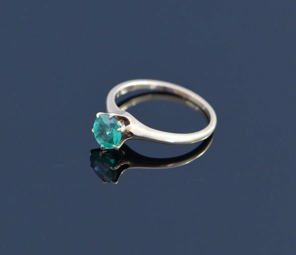 10K Yellow Gold Solitaire Emerald Ring Circa 1935, Size 6