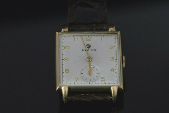 Rolex Stainless Steel Vintage Watch Gold Top Selling as is Needs Main Spring