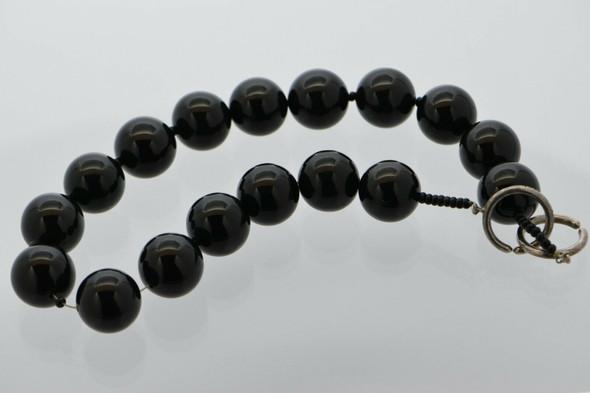 "Tiffany Paloma Picasso Sterling Silver & Black Onyx Bead Strand, 16"" length"
