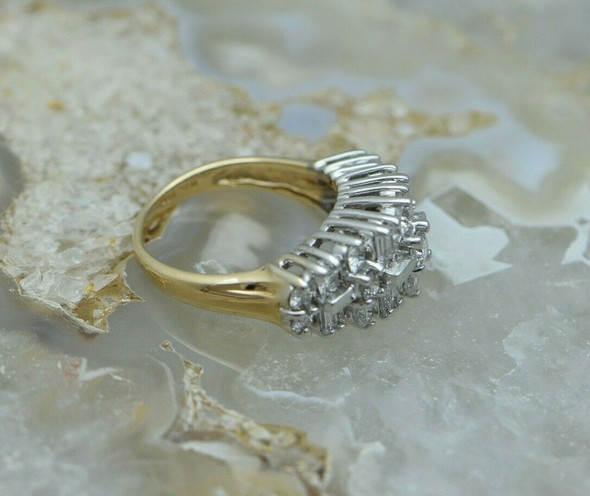Vintage 14K YG 2.5 ct tw. Diamond Ring Size 6.75 Circa 1950