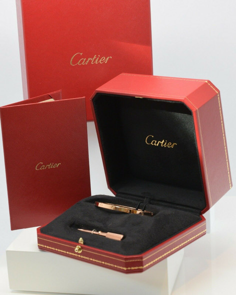 Cartier 18K Rose Gold Love Bracelet Hinged Design