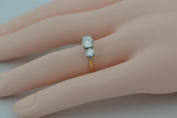 Past Present and Future Diamond 3 Stone Ring Size 6 Circa 1960