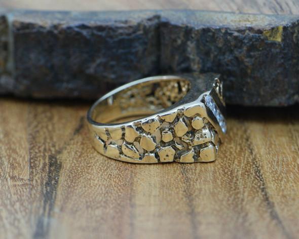 Men's Vintage Nugget Diamond Ring 14K YG 1/2 ct + tw 1960 Size 9