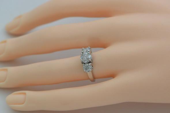 Platinum Diamond 3 Stone Engagement Ring, 2ct tw Circa 1950 Size 5