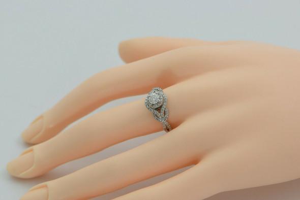 14K White Gold 1ct tw Diamond Ring Size 6.75 Circa 1990